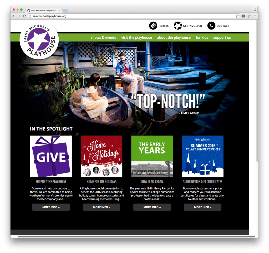 St. Michael's Playhouse home page