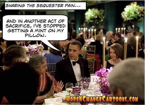 Obama Sequester Mint on Pillow