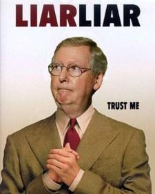 Mitch McConnell Liar Liar