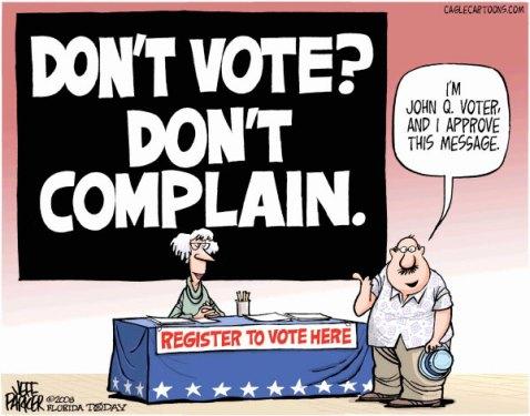 Dont vote - Dont complain