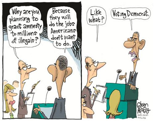 Image result for branco cartoons on trump illegal aliens