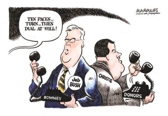 Bush Christie Romney donors