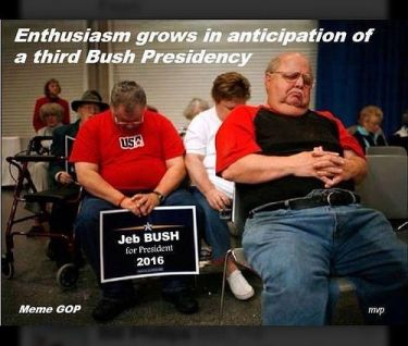 Jeb Bush sleeping people