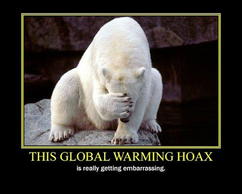 Global warming - embarrassed polar bear
