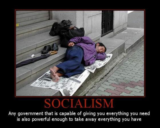 Socialism - Big govt giving equals big govt taking