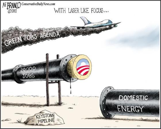 Keystone Pipeline - green energy agenda
