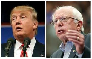 Trump and Bernie Sanders