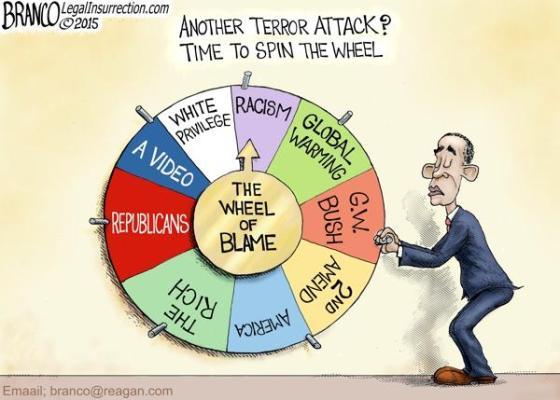 Obama spin the wheel terrorism