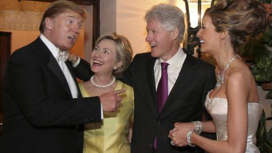 Trump wedding photo with Clintons