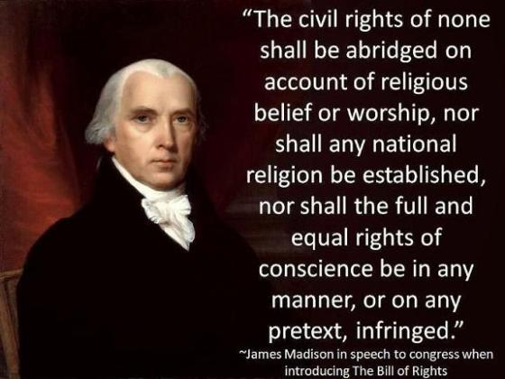 James Madison - Freedom of Religion