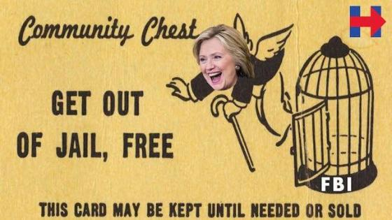 Hillary get out of jail free