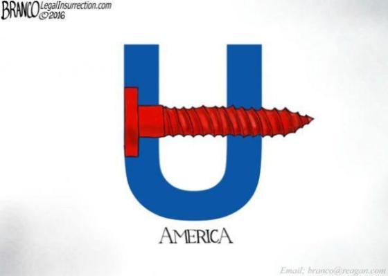 Hillary screw you logo