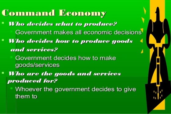 who makes economic decisions in a command economy
