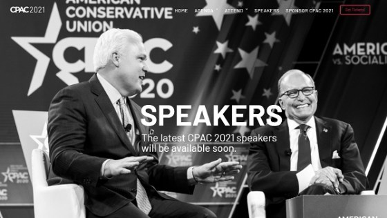 CPAC 2021 Speakers Page