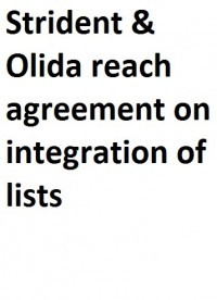 Strident and Olida reach agreement on integration of lists