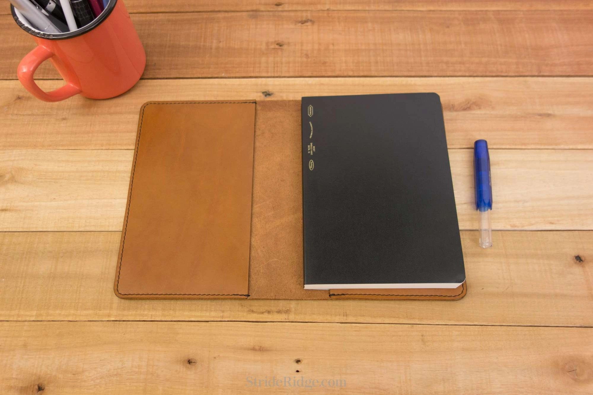 Stalogy 365 Days Notebook Cover B6 Tan Leather