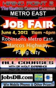 Job Fair Schedule 2012