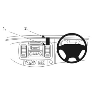 ClicOn No Holes Dash Mount for Renault Traffic 02-10