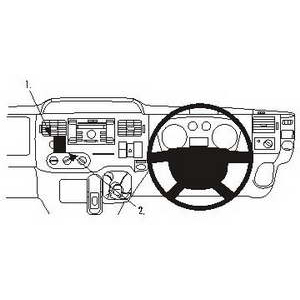ClicOn No Holes Dash Mount for Ford Transit 07-13