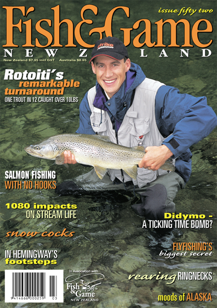 game fishing chair for sale nz covers wedding ebay zane mirfin fish magazine fly articles zm covershot a wide smile solid trout simon bruce miller