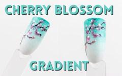 Cherry Blossom Nail Design