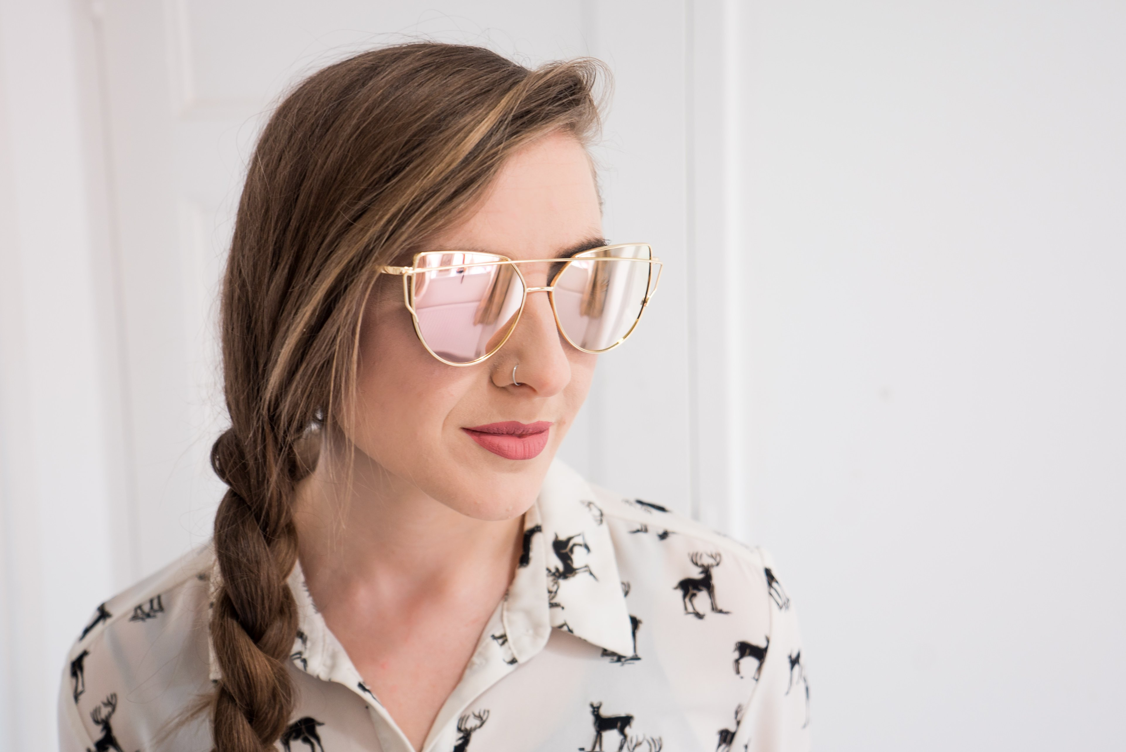 Ebay Deals - Rose Gold Mirrored Sunglasses - £1.80