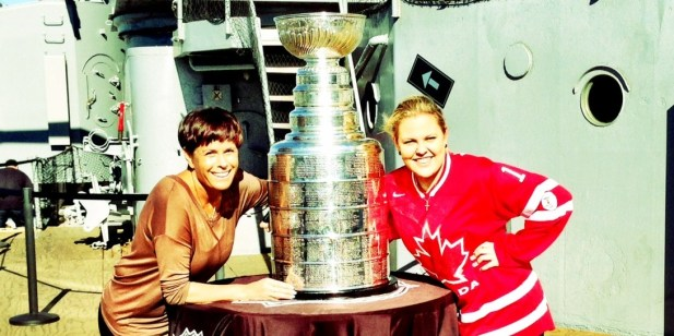 My mom & I with the Stanley cup