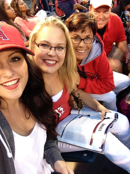 At the game with my family!