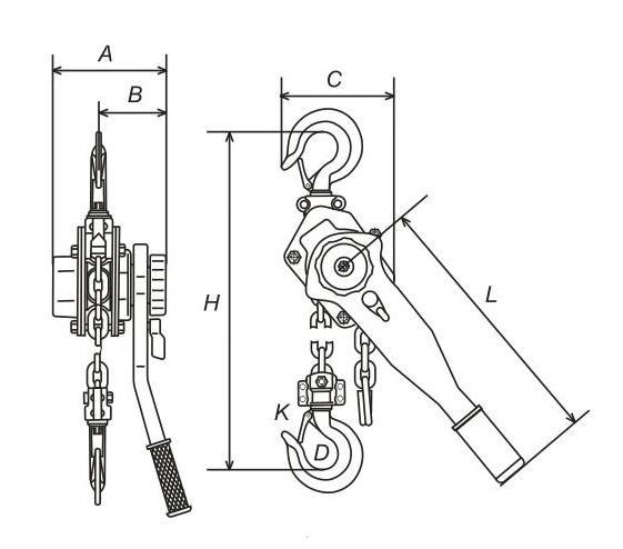 Standard Lifting Height 1.5m Lifting Hoist Transmission