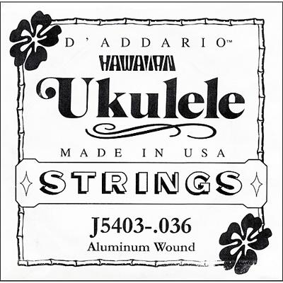 D'Addario Ukulele String J5403 Wound Aluminum .036, One String