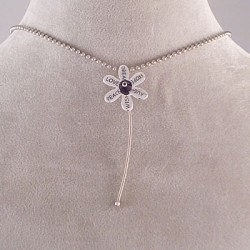 Keith Veshecco Guitar String Flower Pendant