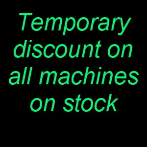 Discount on all machines