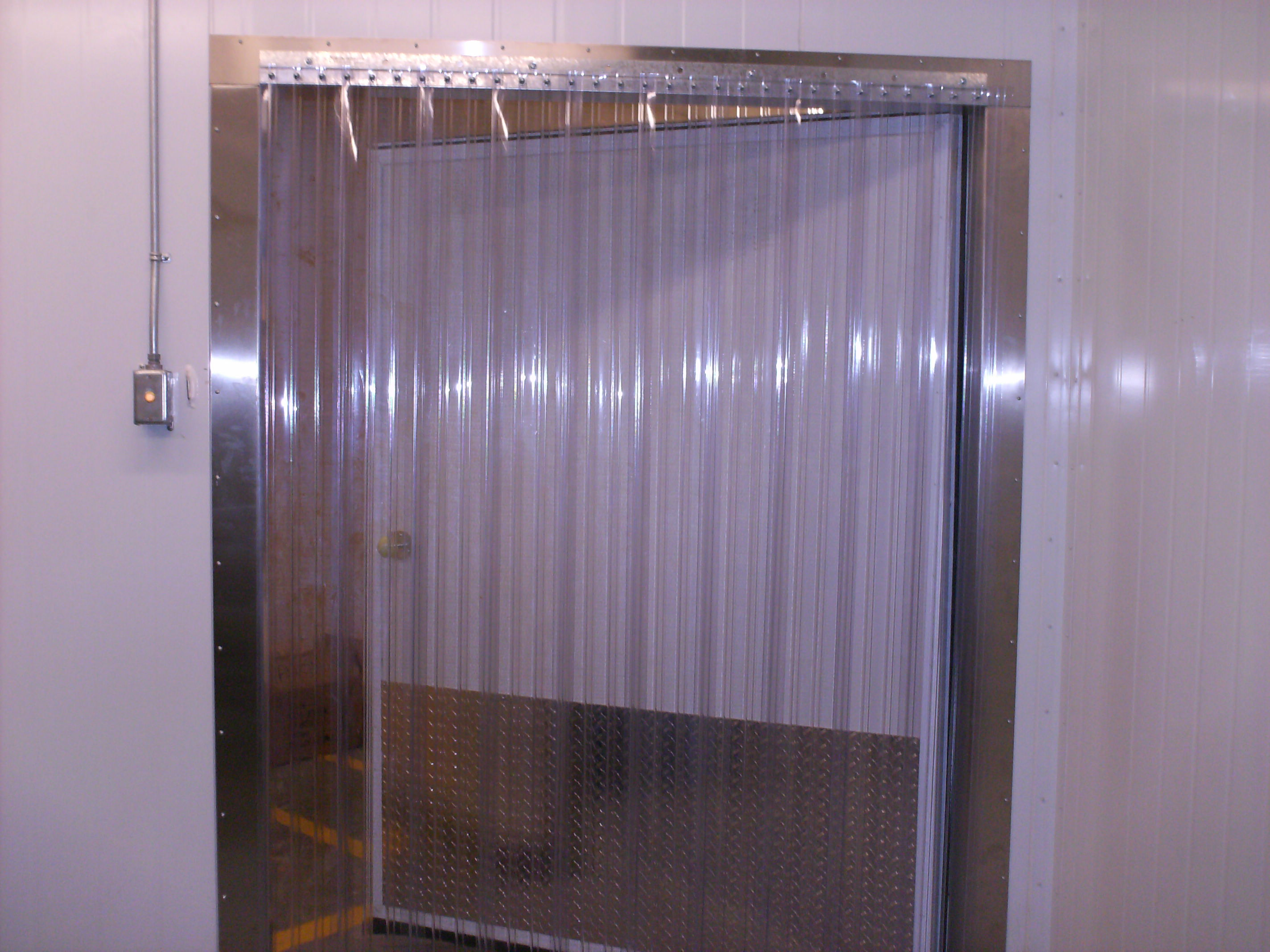 Vinyl Strip Door Curtain 96 X 84  Standard Smooth Clear  Heavy Duty Hardwa  eBay