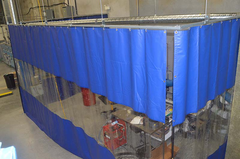 Paint Booth Curtains  Order Online  StripCurtainscom