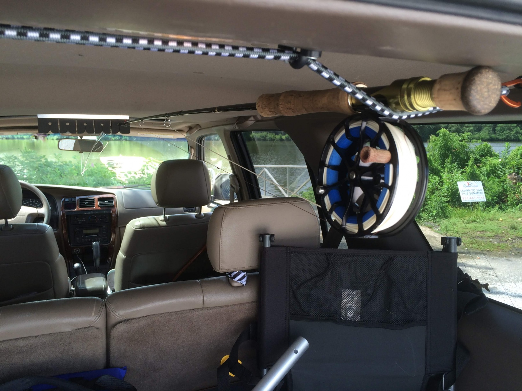 diy fly rod roof rack fly fishing