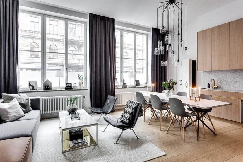 Appartement in Stockholm met veel ramen  Stripesandwallsnl