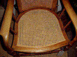 repair rattan chair seat lowes folding chairs seating repairs to rush cane and wicker caned in standard six way