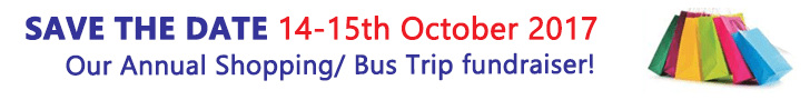 Save the date - Annual Shopping / Bus Trip Fundraiser