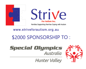Strive For Autism Sponsors Special Olympics Hunter Valley