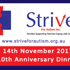 Strive For Autism – 10th Anniversary Invitation