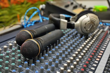 Striving to Thriving Podcast Audio mixing console