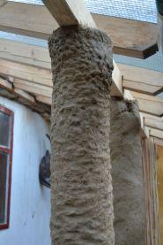 StrohNatur Säule aus COB (Lehm und Stroh)