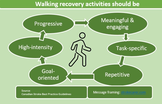 a human walking in the middle surrounded by six basic rules of movement recovery