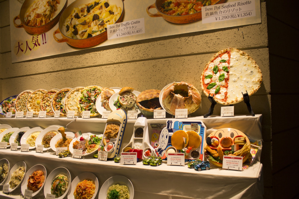 Japan food displays Venus Fort