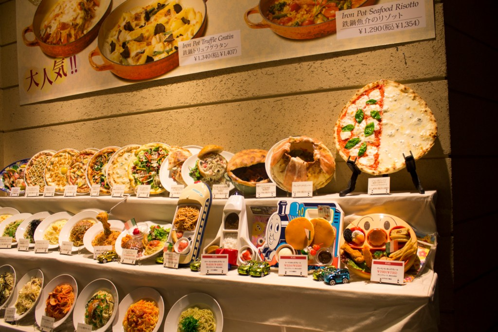 Japan food displays Venus Fort