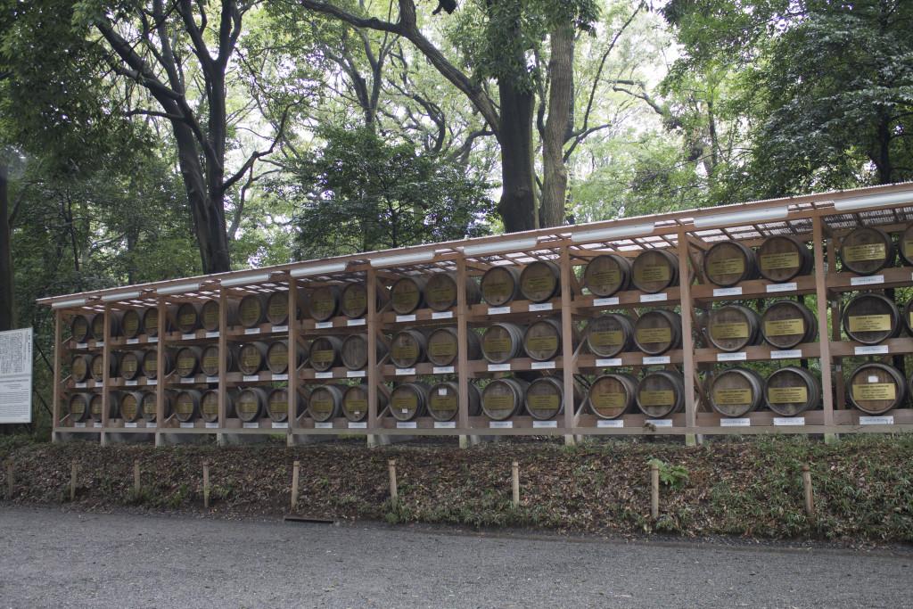 Meiji Shrine wine barrels