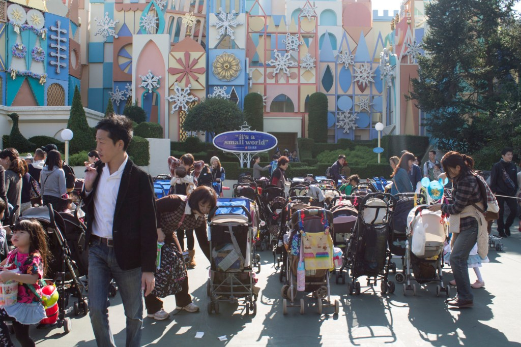 Tokyo Disneyland stroller parking