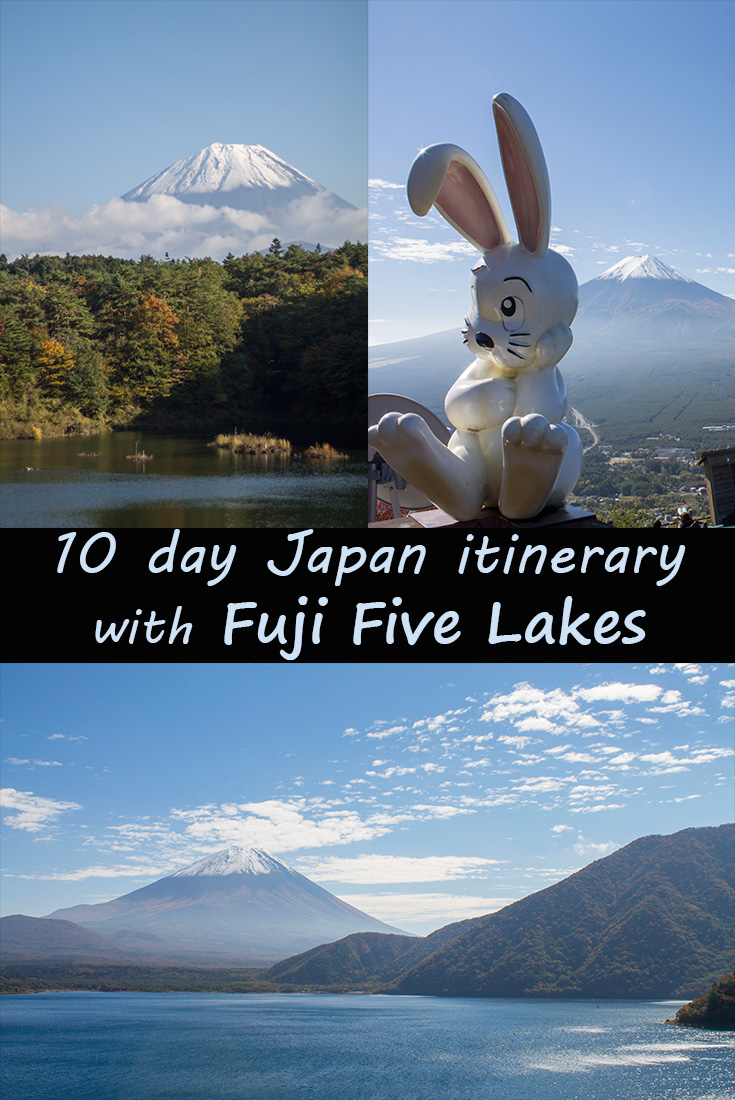 10 day Japan itinerary Fuji Five Lakes