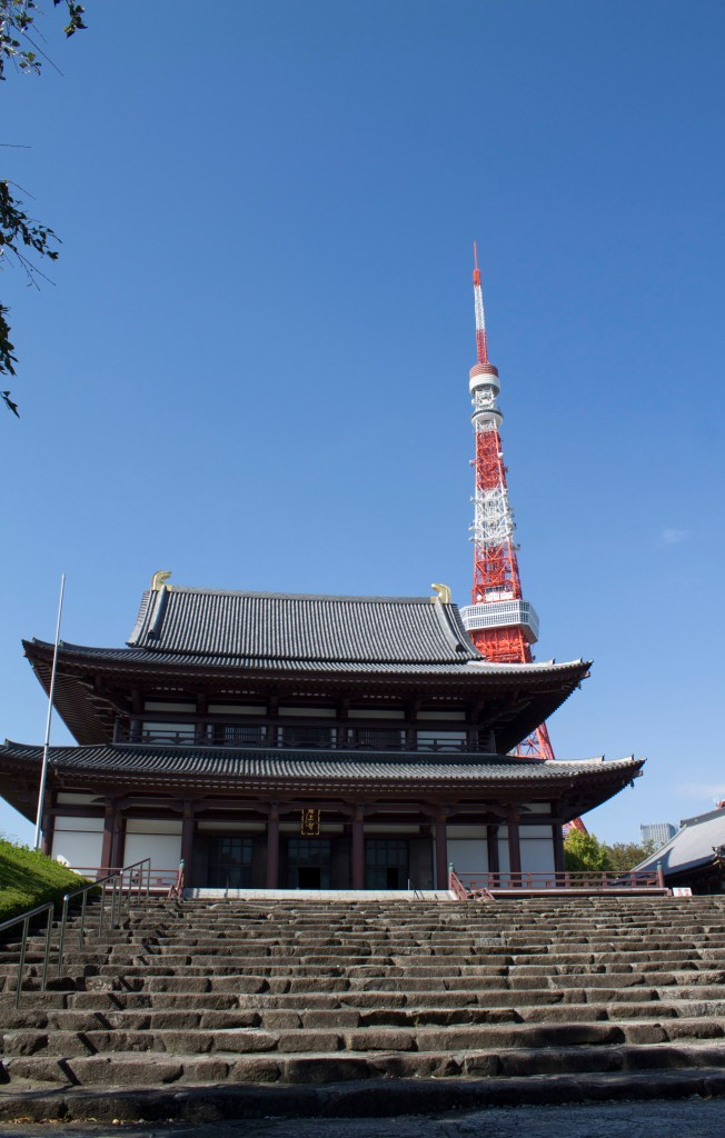 Zojoji temple and Tokyo Tower.