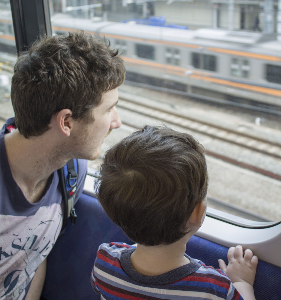 Tokyo trains with kids